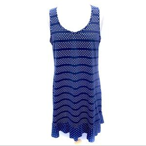 Lands End Blue Cover Up / Dress, M, Like New